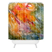 Rosie Brown Abstract 3 Shower Curtain