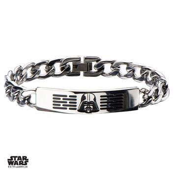 Star Darth Vader Bracelet - Chrome