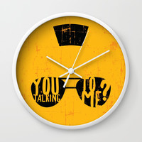 Taxi Driver - you talking to me? Wall Clock by g-man