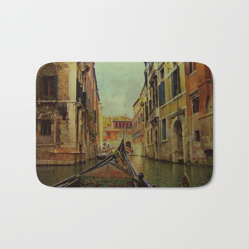 Venice, Italy Canal Gondola View Bath Mat by Theresa Campbell D'August Art
