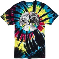 Yoga Clothing for You Mens Peace Earth Tie Dye T-shirt