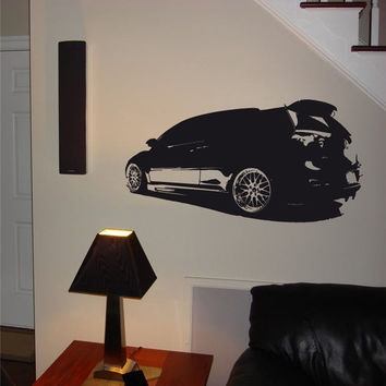 Wall Decal Mural 2009 Volkswagen Polo 020 FRST
