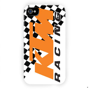 Ktm Racing Motorcycles Design For iPhone 4 / 4S Case