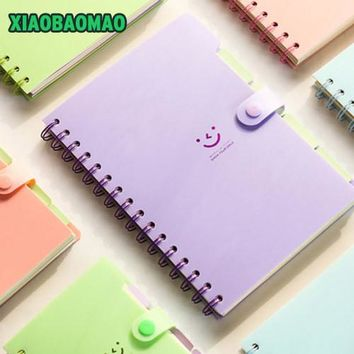 Makaron color korea stationery slammed the coil notebook / Diary agenda / pocket book / office school supplies