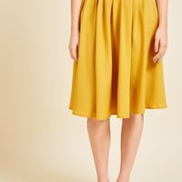 Breathtaking Tiger Lilies Midi Skirt