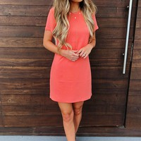 Just Give Me A Reason Dress: Salmon