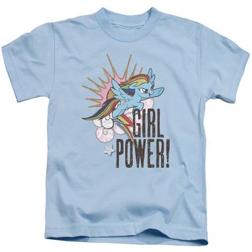 My Little Pony Boys T-Shirt Girl Power Light Blue Tee