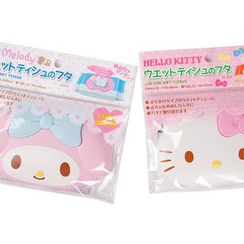 (5 Pcs/Lot) Hello Kitty My Melody Car Room Wet Wipes Tissue Reusable Lid Cover