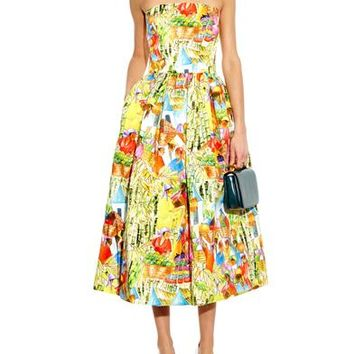 Haitian Market-print cotton dress