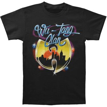 Wu Tang Clan Men's  Airbrush Logo Mens Regular T T-shirt Black