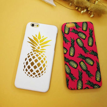 Fashion pineapple iPhone 6 6s 6 Plus 6s Plus Case + Nice gift box 71501