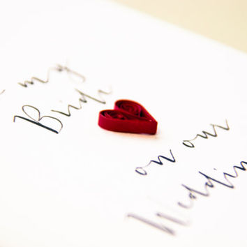 To My Bride On Our Wedding Day Card - Card for Bride - Card for Fiancee -