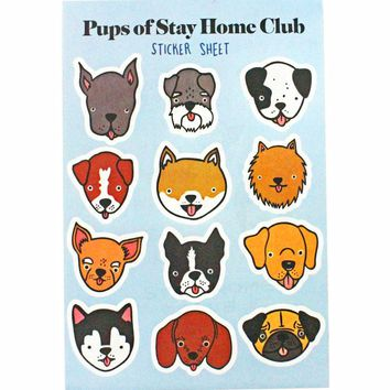 Pups Of Stay Home Club Sticker Sheet