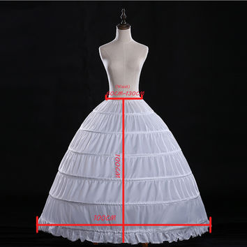 3329059de0 Q10 Real Ball Gown 6 Hoops White Underskirt Bridal Petticoat Crinoline for  Quinceanera Dress Wedding Accessories