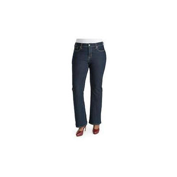 Signature By Levi Women's Totally Shaping Bootcut Jeans, After Hours, 20W