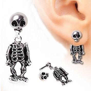 Skeleton Dangle Two-Part Earrings (1 Pair)