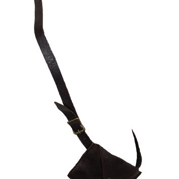 goodhYOUman Unisex Leather Kibisis Pouch on Leather Belt Strap