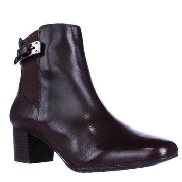 Bandolino Lethia Dress Ankle Boots, Dark Brown/Dark Brown, 8 US