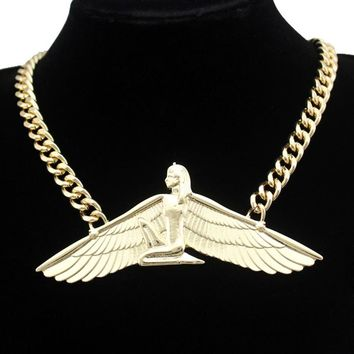 Vintage Egyptian Goddess Isis Choker Chain Necklace