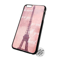 Travel Quote Eiffel Tower In Paris France Photography Cell Phones Cases For iPhone, iPad, iPod, Samsung Galaxy, Note, Htc, Blackberry