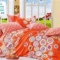 Orange Cirque Twin XL Comforter Set - College Ave XL Bed Sets Bedding Supplies X Long Sleep Cotton Colorful