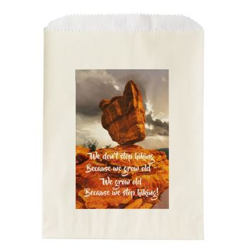 Hiking Balanced Rock Party Favor Bag