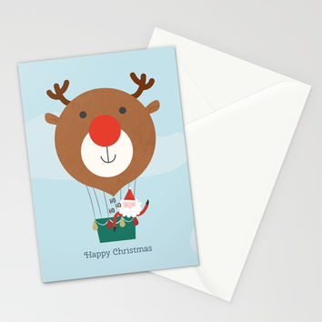 Day 13/25 Advent - Air Rudolph Stationery Cards by lalainelim