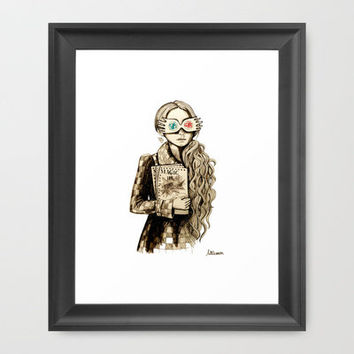 Luna Lovegood Framed Art Print by Miss Littlemess