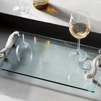 SEAHORSE HANDLED SERVE TRAY