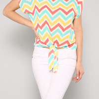 Candyspell — Candy Coated Chevron Blouse