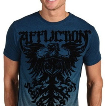 Affliction Employ Tee in Pacific Blue