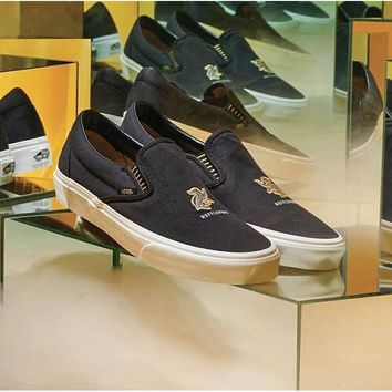 VANS X HARRY POTTER™ SLIP-ON HUFFLEPUFF Black Low top Men shoes lace up sneakers