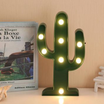 Table Lamp Cactus 3D LED Night Light Decor