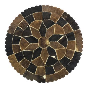 Cowhide Leather Hair-On Rug - Natural Mix Color