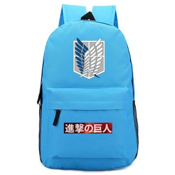 Cool Attack on Titan New  Backpack Student School Bags Bookbags Cosplay no  Wings of Liberty Shoulder Travel Bags Gift AT_90_11