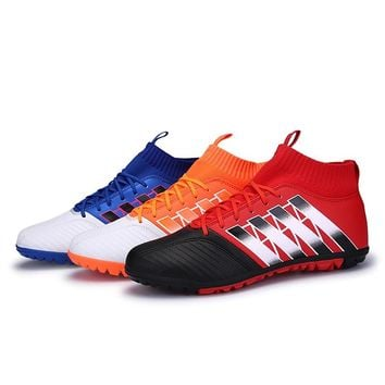 zhenzu Professional Boys futzalki football shoes sneakers indoor turf superfly futsal original football boots soccer cleats