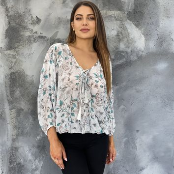 Always Wanted You Sheer Floral Blouse
