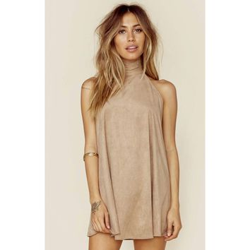 Dancing Days Swing Dress in Fawn