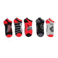 Supernatural Mix & Match No-Show Socks 5 Pair