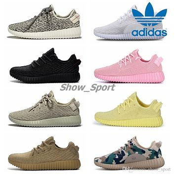 Fashion Online Adidas Yeezy Boost 350 Pirate Black Turtle Dove Moonrock Oxford Tan Yellow Pink White Camo Men Women Running Shoes Kanye West Yeezys Boosts