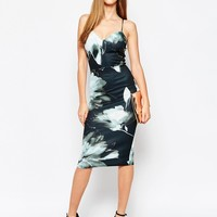 ASOS Floral Pencil Bodycon Midi Dress