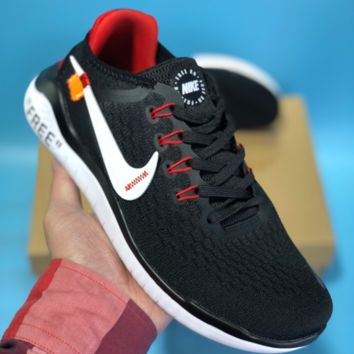 KUYOU N620 Off White Nike Free RN 2018 Fashion Sport Running Shoes Black Red White