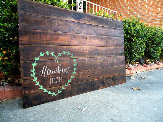 Personalized Wedding Sign, Wedding Guest from RusticallyWell on