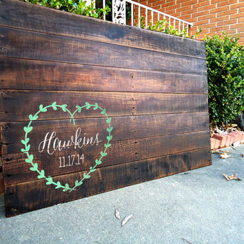 Personalized Wedding Sign, Wedding Guest Book Wood Sign, Guest Book Alternative, Unique Guest Book