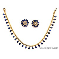 Traditional teardrop choker Necklace and Earring set