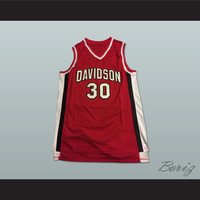 Stephen Curry 30 Davidson Wildcats Red Basketball Jersey