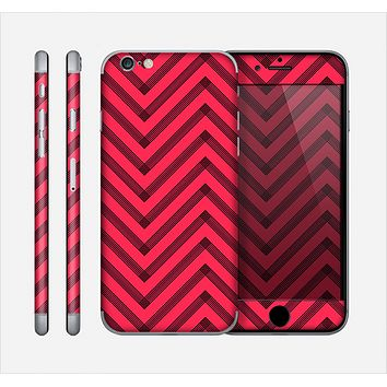 The Red & Black Sketch Chevron Skin for the Apple iPhone 6