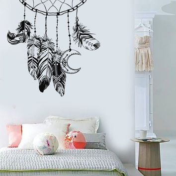 Vinyl Wall Decal Dreamcatcher Feathers Bedroom Design Nursery Stickers (811ig)