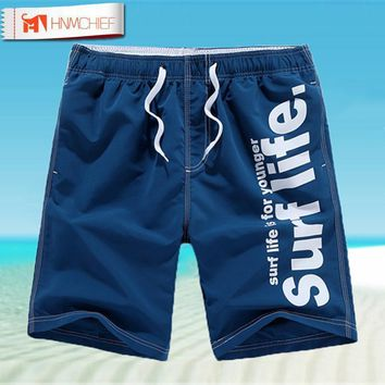 Men Beach Shorts / Quick Drying Summer Style Solid Polyester Clothing