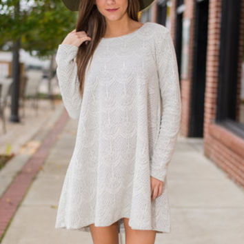 Covered In Grace Dress, Gray